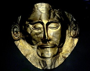 """The famous Mask of Agamemnon is thrilling to see """"in the flesh"""" at the National Archaeological Museum, Athens © 2015 Karen Rubin/news-photos-features.com"""