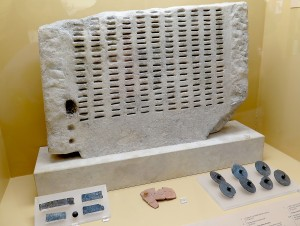 """A lottery """"machine"""" for selecting jurors, on display at the museum at the Ancient Agora. © 2015 Karen Rubin/news-photos-features.com"""