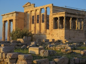 Parthenon, on Acropolis Hill, at the closing hour © 2015 Karen Rubin/news-photos-features.com