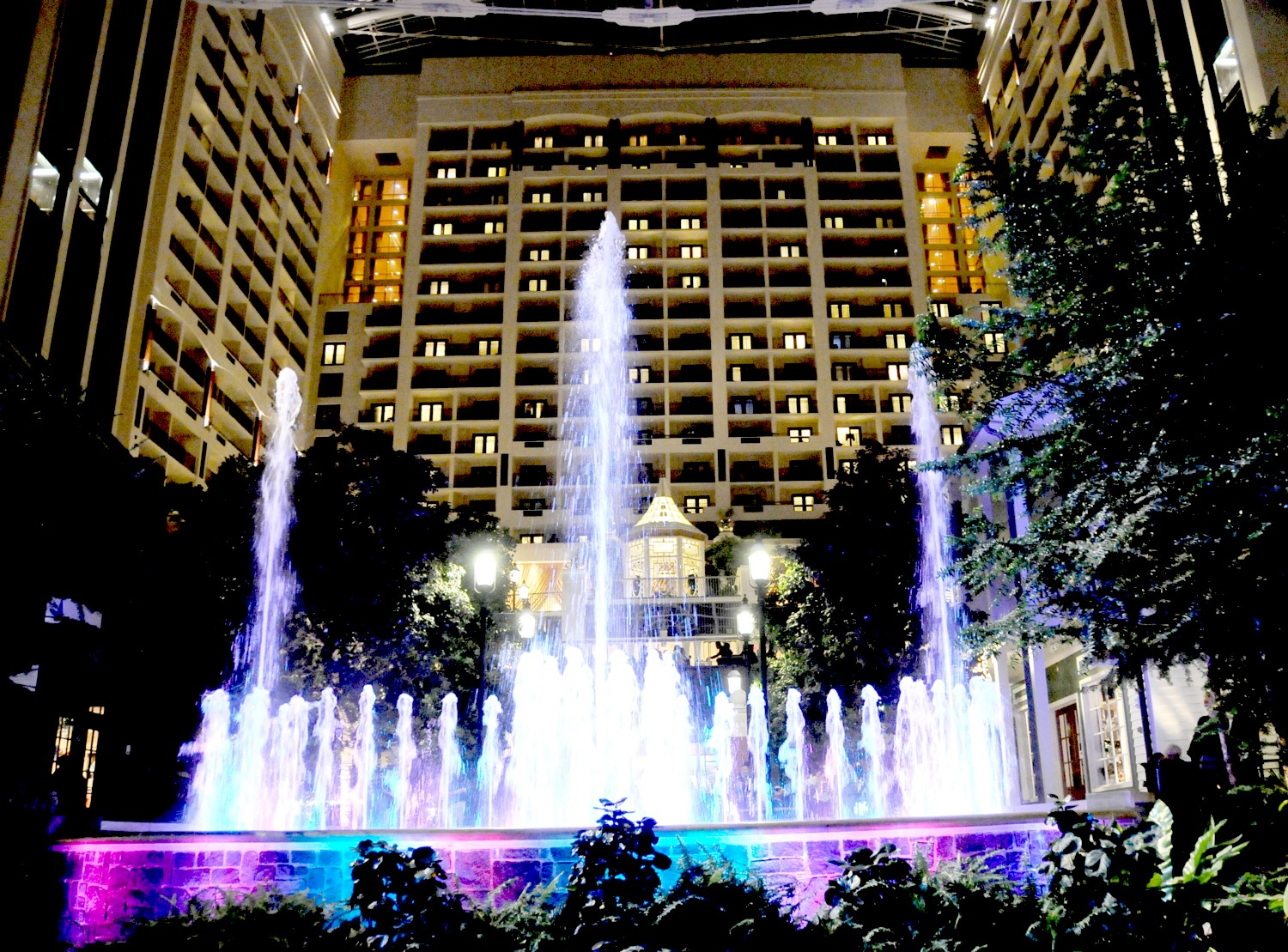 Dancing Fountains are part of the Christmas on the Potomac festival at Gaylord National Resort just outside Washington DC © 2016 Karen Rubin/goingplacesfarandnear.com
